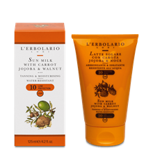 Picture of Sun Milk with Carrot Jojoba and Walnut SPF 10 125 ml L'Erbolario
